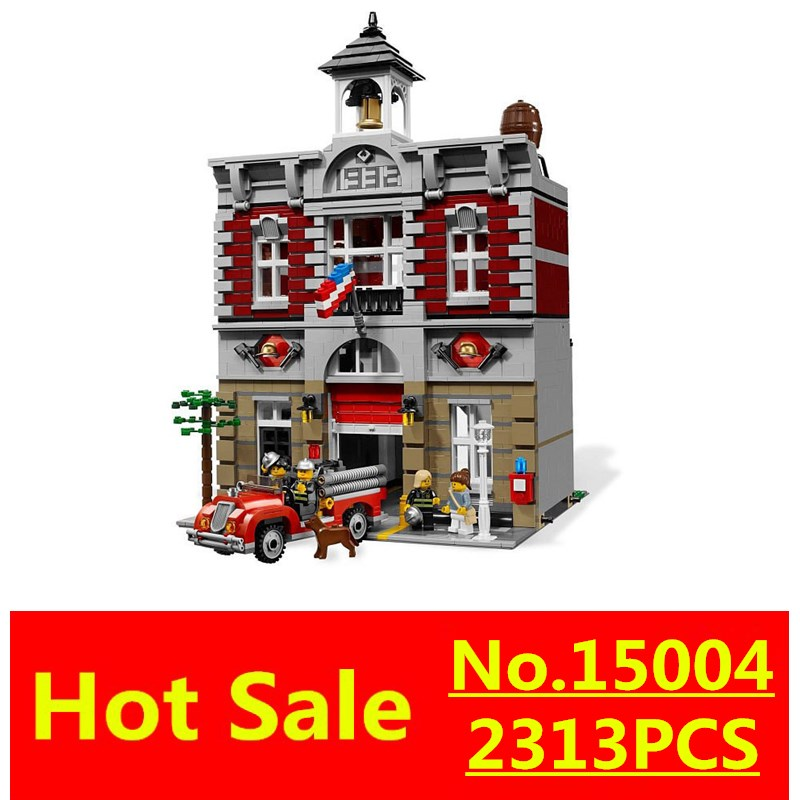 ФОТО New LEPIN 15004 2313Pcs City Creator Fire Brigade Model Building Kits figures Blocks Bricks Compatible Toys Gift 10197
