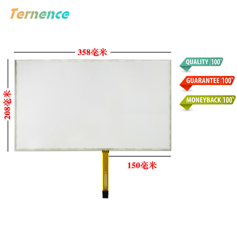 skylarpu 15.6inch Resistance touch 359mm*209mm 5 wire touchscreen USB touch Panel handwriting industrial Glass Free shipping free shipping 10pcs lot fpc gbjcb739a2 touch touchscreen