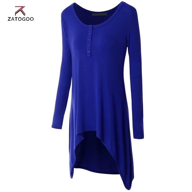 Womens Swing Tunic Tops V neck long sleeve cozy shirts bacis brief Femininas European Casual tops