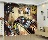 Classic Movie Memories 3D Blackout Curtains Healthy Non Pollution Digital Print Curtains For Bedding Room Living