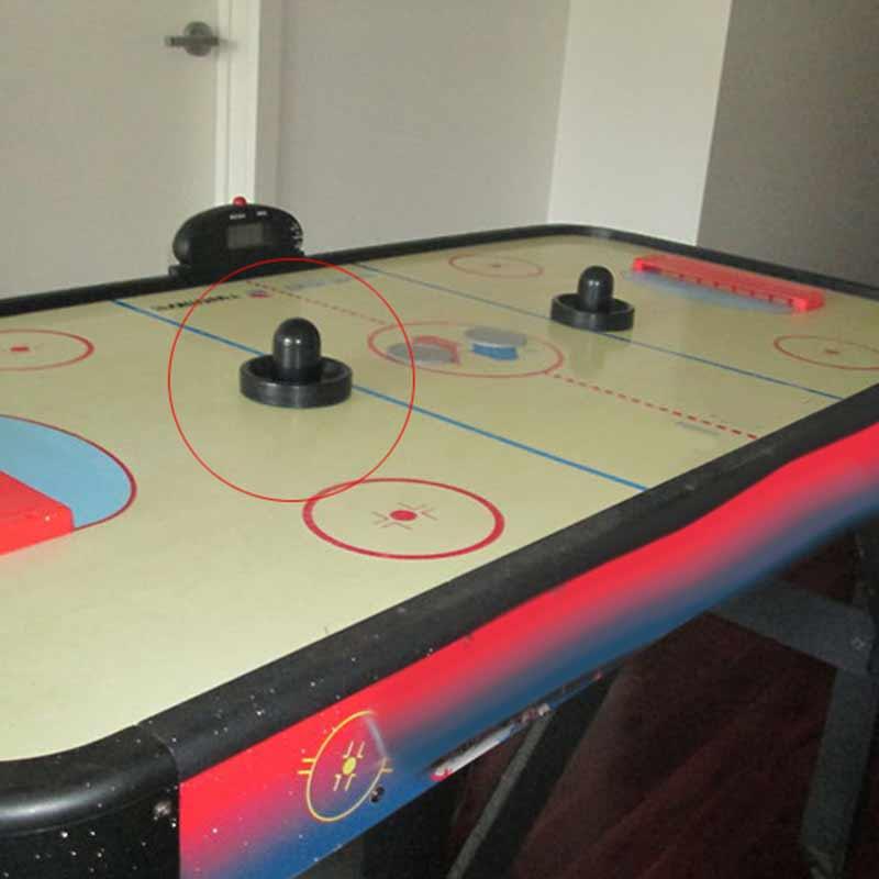 96mm Air Hockey Table Felt Pusher Mallet Goalies With 1pc 63mm Puck Black YA88