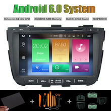 Android 6.0 Octa-core CAR DVD PLAYER for KIA SORENTO 2013 CAR Radio RDS STEREO 1024X600 HD SCREEN STEREO WIFI 2G RAM 32GB Inand