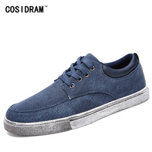 New Spring Autumn Men Shoes Canvas Non-leather Casual Shoes Solid Lace-Up Designer Male Footwear Students Boy Plimsolls RME-214