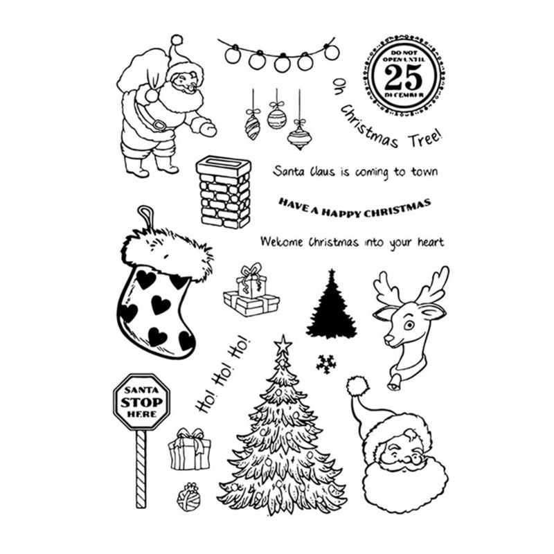 Aliexpress Com Buy Christmas Diy Silicone Clear Stamp Cling Seal