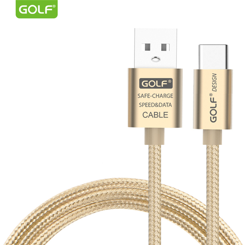 GOLF 1m Braided Fast Charging USB-C Type-C USB Data Sync Cable for Xiaomi 4S 5 5S 6 6X 8 SE ZenFone 3 4 5 Oneplus ZUK Samsung S9
