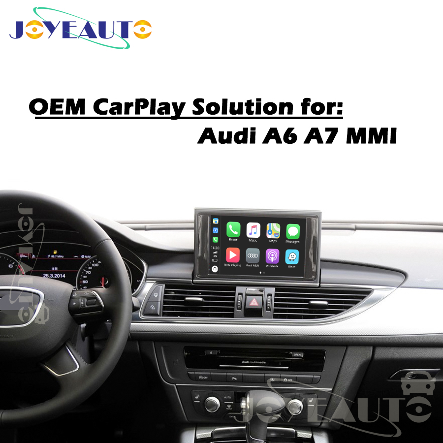 Aftermarket A6 A7 C7 MMI 3G MIB B9 OEM Apple Carplay Android Auto Mise À Niveau 09-17MY IOS Airplay Voiture Jouer rénovation pour Audi