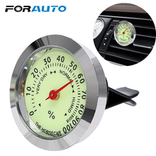 FORAUTO Luminous Thermometer Hygrometer Car Ornaments Automobile Air Vent Clip Decoration Car Styling Interior Accessories