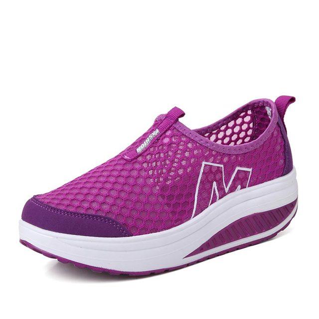 Women's High Increase Breathable Wedge Walking Sneakers