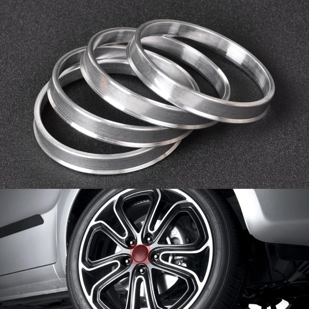 DWCX 4pcs New Aluminum Hub Rings  67.1mm Car Hub to 73.1mm Wheel Bore ID 67 OD 73 for Hyundai Tucson Mazda 3 CX-7 Free Shipping
