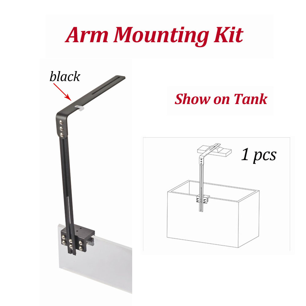 US $37 24 24% OFF|DSunY led aquarium light arm mounting kit for marine  fish,coral reef,LPS fresh plant led lighting accessory mounting install  way-in