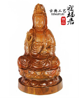 Grass pear lotus Guanyin Buddha carved mahogany wood handicrafts ornaments jewelry boutique Wenwan Home Furnishing