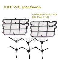 Original ILIFE V7S Efficient HEPA Filter 4 Pcs And Side Brush 6 Pcs Robot Vacuum Cleaner