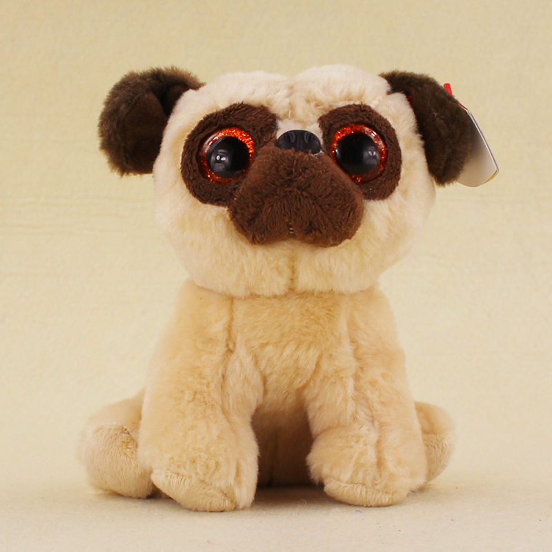 15cm Ty Beanie Big Eyes Rufus Pug Dog Plush Toys 469a6b388