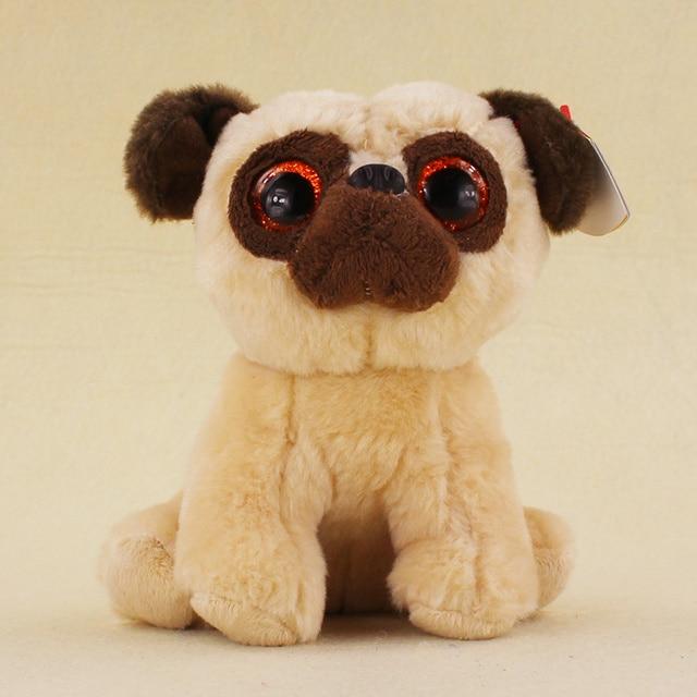 15cm TY Beanie Big Eyes Rufus the Pug Dog Plush Toys Stuffed Animals PP  Contton Plush dd2714581e0