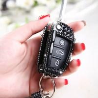 LUNASBORE 럭셔리 다이아몬드 블링 자동차 키