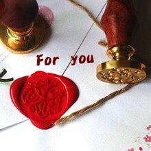 Обычай/поздравления сургучной уникальная алфавит стик скрапбукинг конверт деревянная свадебный печать печати