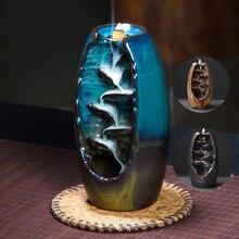2019 Новая горелка для благовоний с обратным потоком благовония Керамические ремесла благовония диффузор для дома офиса горная речка ручной ладан держатель