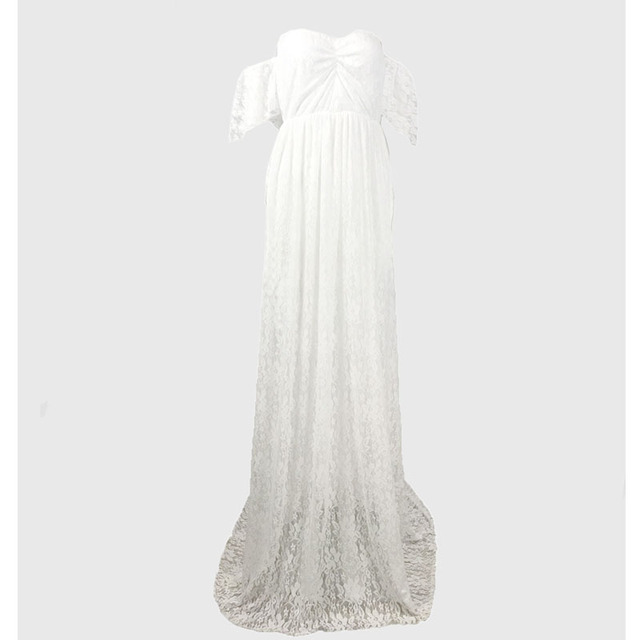 Long Maternity Lace Maxi Gown