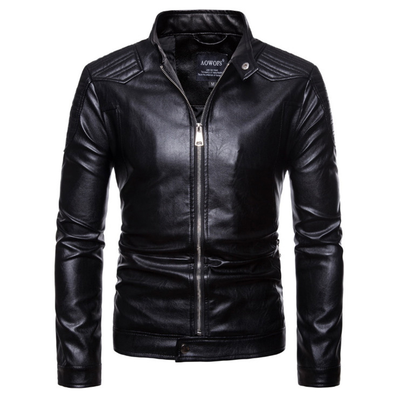 Europe/US Size Leather Jacket New Autumn Motorcycle Leather Jacket Men Fashion Biker Coat High Quality Faux Leather Jacket Male