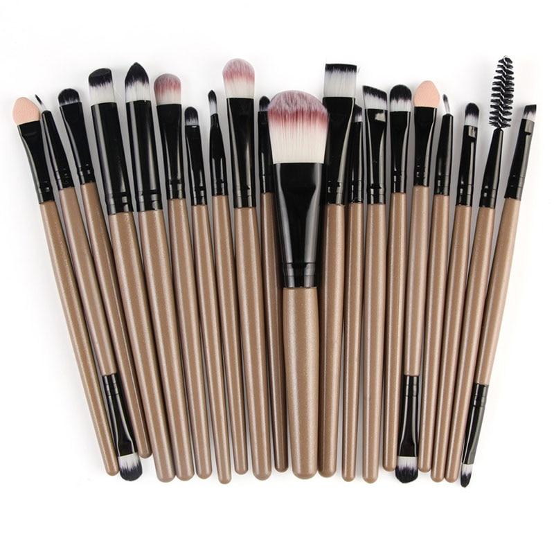 20pcs Eyes Brushes Set Eyeshadow Eyebrow Eyelashes Eyeliner Lip Makeup Brush Sponge Smudge Brush Cosmetic pincel maquiagem (4)