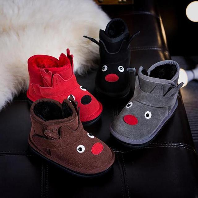 Bebés niños Invierno Cálido Botas Lindo Monstruo de Suela Suave Zapatos Calientes Botas Prewalkers Zapatos Prewalkers 4