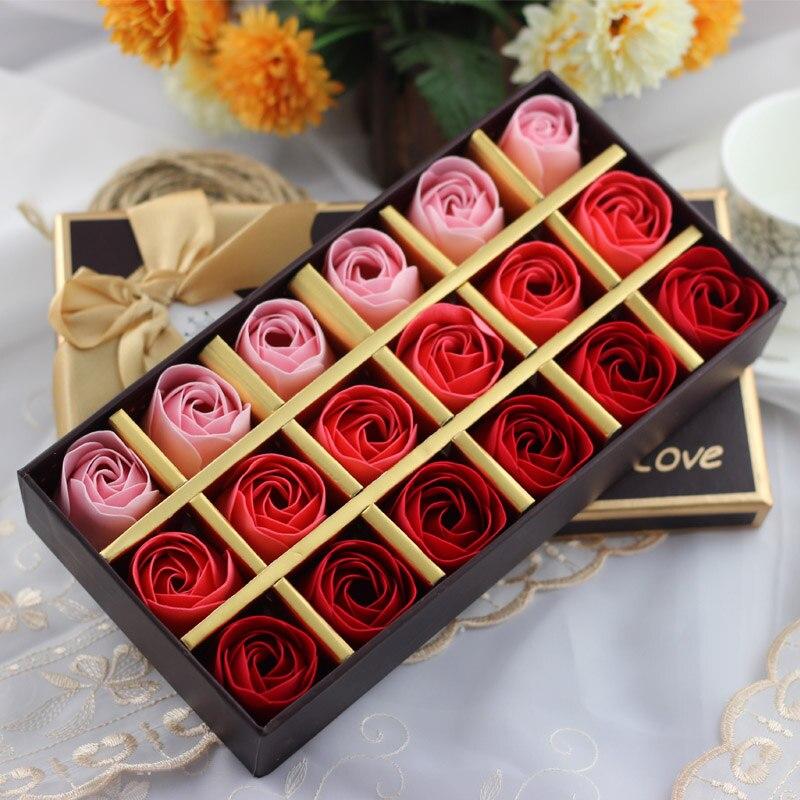 Rose Soap Flower Gift Box For Valentine's Day Birthday New ...