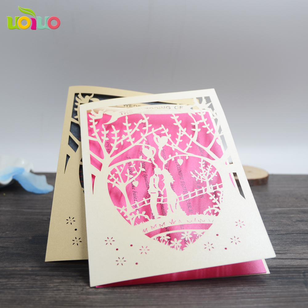 Us 12 8 10pcs Cream Customize Wedding Cards Unique Bride Groom Free Name Logo Indian Laser Cut Pearl Glitter Paper Wedding Invitations In Cards