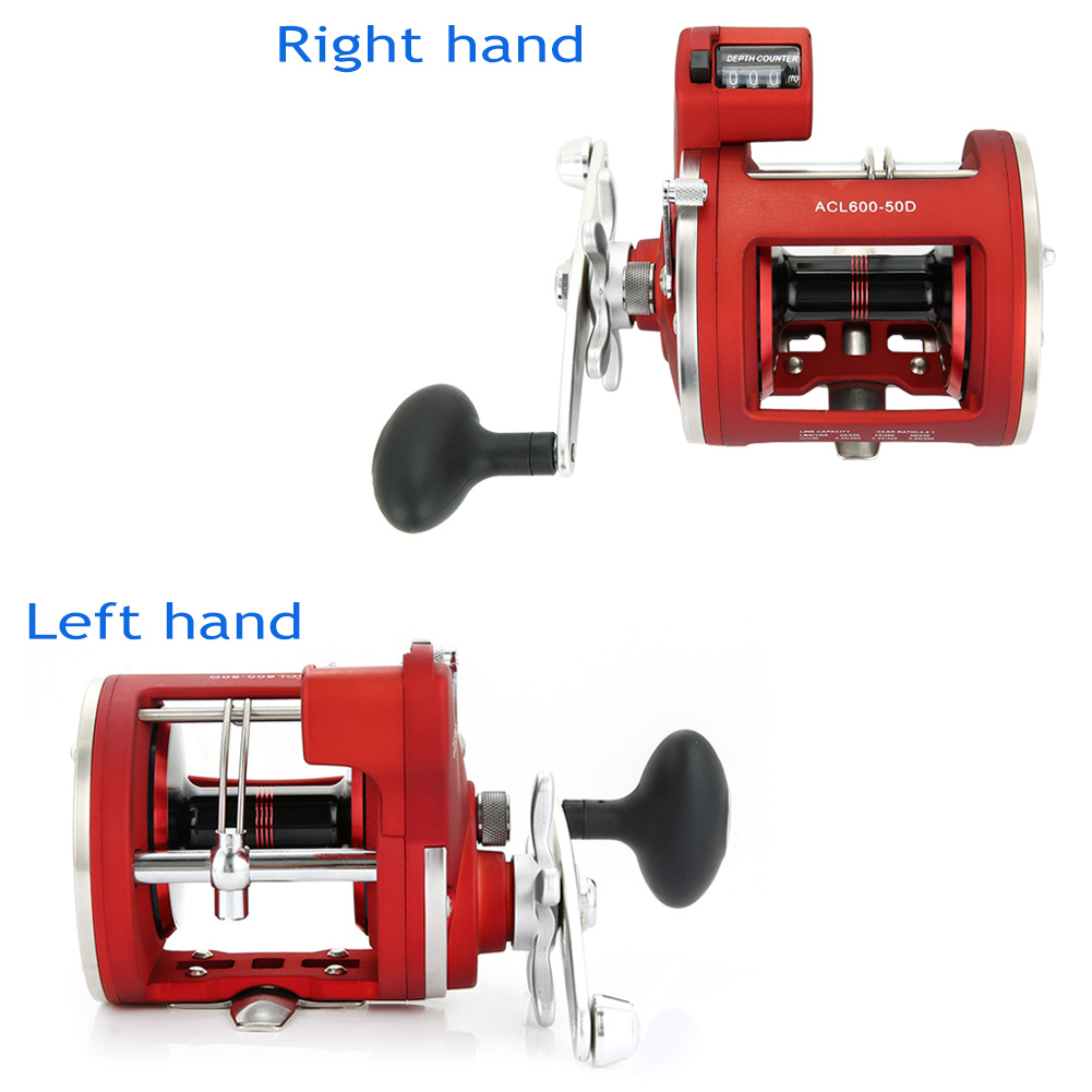 Left / Right Hand 12 Bearings Fishing Reel with Electric Depth Counter Double Brake System Bait Casting Drum 88 B2Cshop hellboy giant right hand anung un rama right hand of doom arms hellboy animated cosplay weapon resin collectible model toy w257