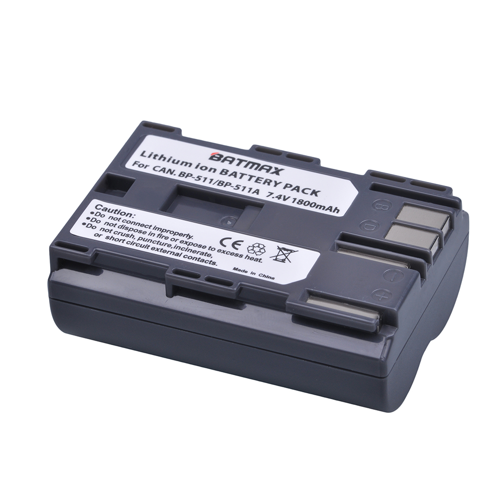 1Pcs BP-511 BP511 BP 511 BP-511A Battery for Canon G6 G5 G3 G2 G1 EOS 300D 50D 40D 30D 20D 5D MV300i Digital Camera bp 511 bp511 camera battery 1x charger for canon eos 30d 20d 10d 300d d60