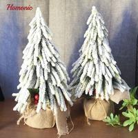 New 33CM Artificial Christmas Tree artificial potted White pvc tree xmas mini arbol de navidad For Kids Christmas Decorations