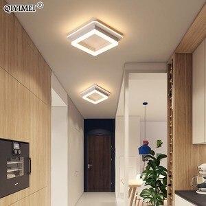 Image 5 - Oświetlenie ledowe żyrandol korytarz korytarz montowane na powierzchni akrylowa sufitowa podświetlenie 20W nowoczesna lampa nabłyszczania Lampadario AC85 260V