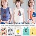 2016 New Bobo Choses Crianças Bebê Colete T-shirt Tops de Tee Meninos Meninas camiseta Crianças camiseta Crianças Primavera Roupas de Verão