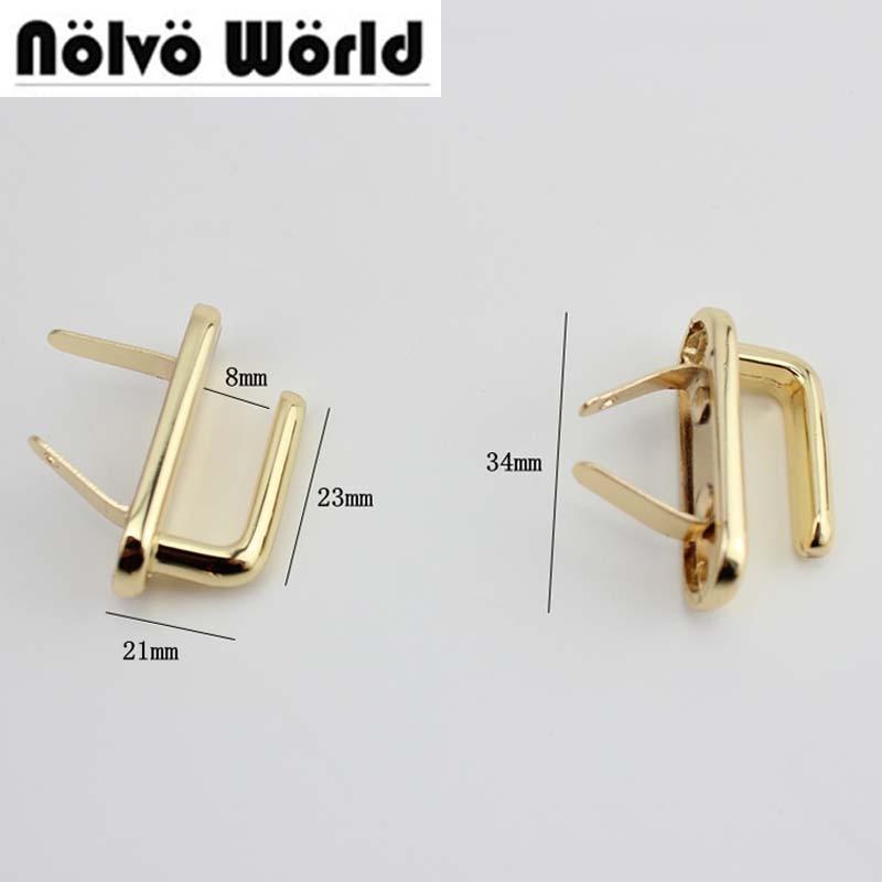 10pcs 34X21mm Gold Silver Color Hanger Hook For Purse Bags Straps Belt Connect Metal,high Quality Alloy Belts Hook Hanger