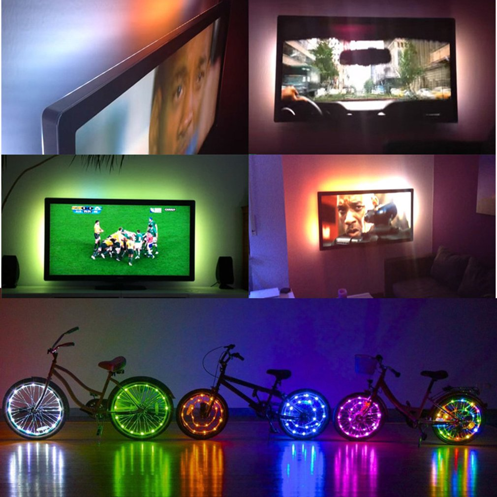 Enthousiast 2 M 6.56ft Tv Achtergrond Muziek Pulse Strip Licht Band Ritme Inductie 12 V Controller Supplement The Vital Energy And Yin