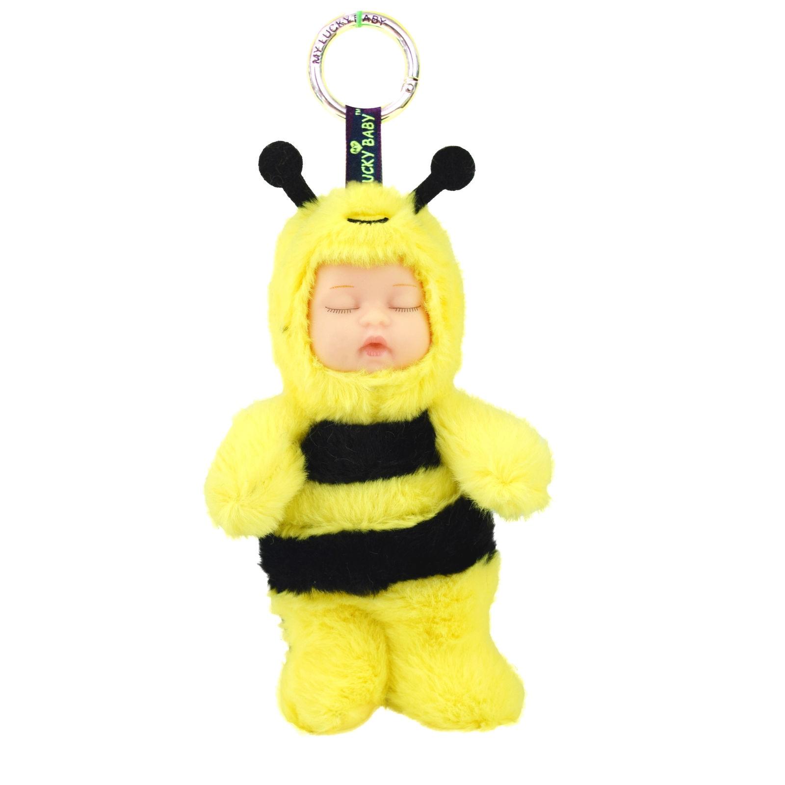 bee ! Plush Sleeping baby Dolls New Born Sleep Reborn Children Newborn Lovely Stuffed Cute Family Toy for Kid Baby Gift Toy 23cm