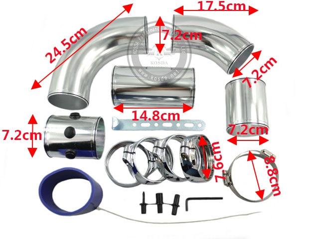 76 мм 3 ''шеи алюминиевая трубочка комплект холодного воздуха инъекций Регулируемая холодного воздуха Инжекторная труба Наборы
