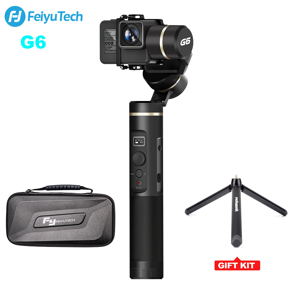 FeiyuTech G6 Waterproof Handheld Gimbal Action Camera Wifi + BlueTooth OLED Screen Elevation Angle for Gopro Hero 6 5 Sony RX0 цена 2017