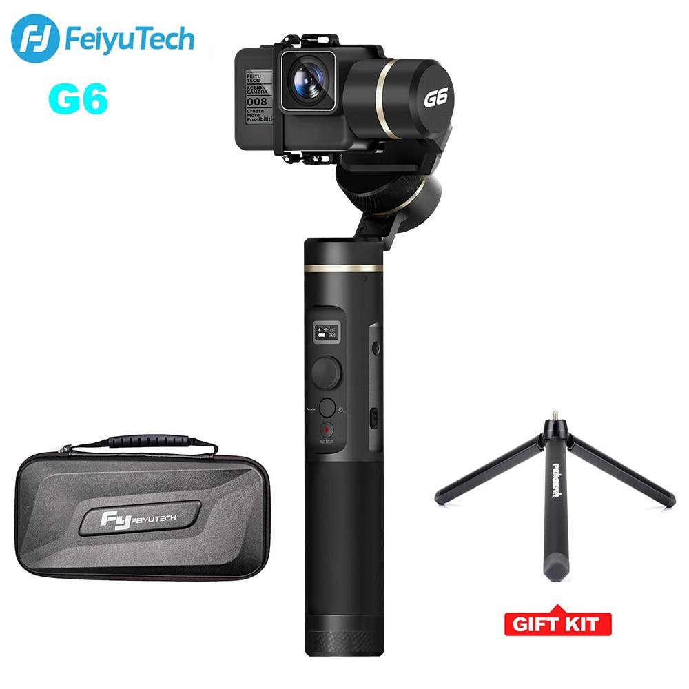 цена на FeiyuTech G6 Waterproof Handheld Gimbal Action Camera Wifi + BlueTooth OLED Screen Elevation Angle for Gopro Hero 6 5 Sony RX0