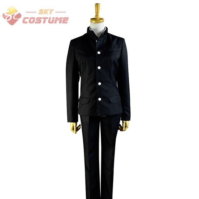 Charlotte Yuu Otosaka Black Uniform Suits Coat Pants Halloween Christmas Anime Cosplay Costume Custom Made