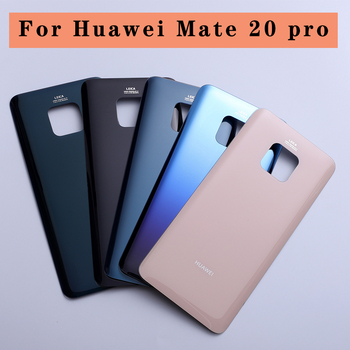 Cover posteriore back cover batteria per Huawei Mate 20 Pro Battery Cover Back Glass Panel Rear Door Housing Case With Camera Lens Replace 1