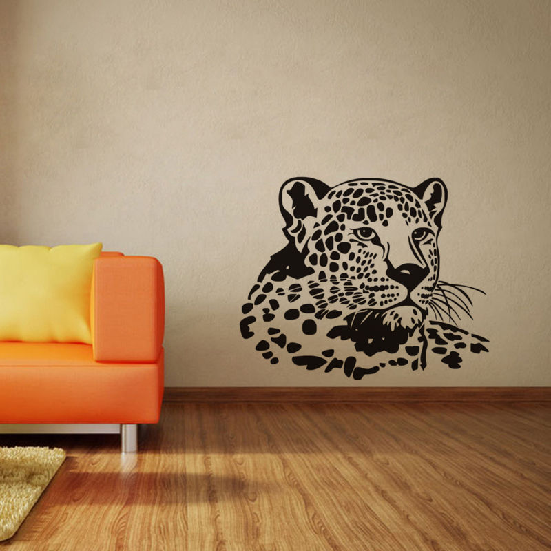 Home Decor Classic Leopard Head Removable Wall Stickers Home Decor Living Room Bedroom Home Sofa Background Wall Art Decals Mural Sa138b Skilful Manufacture