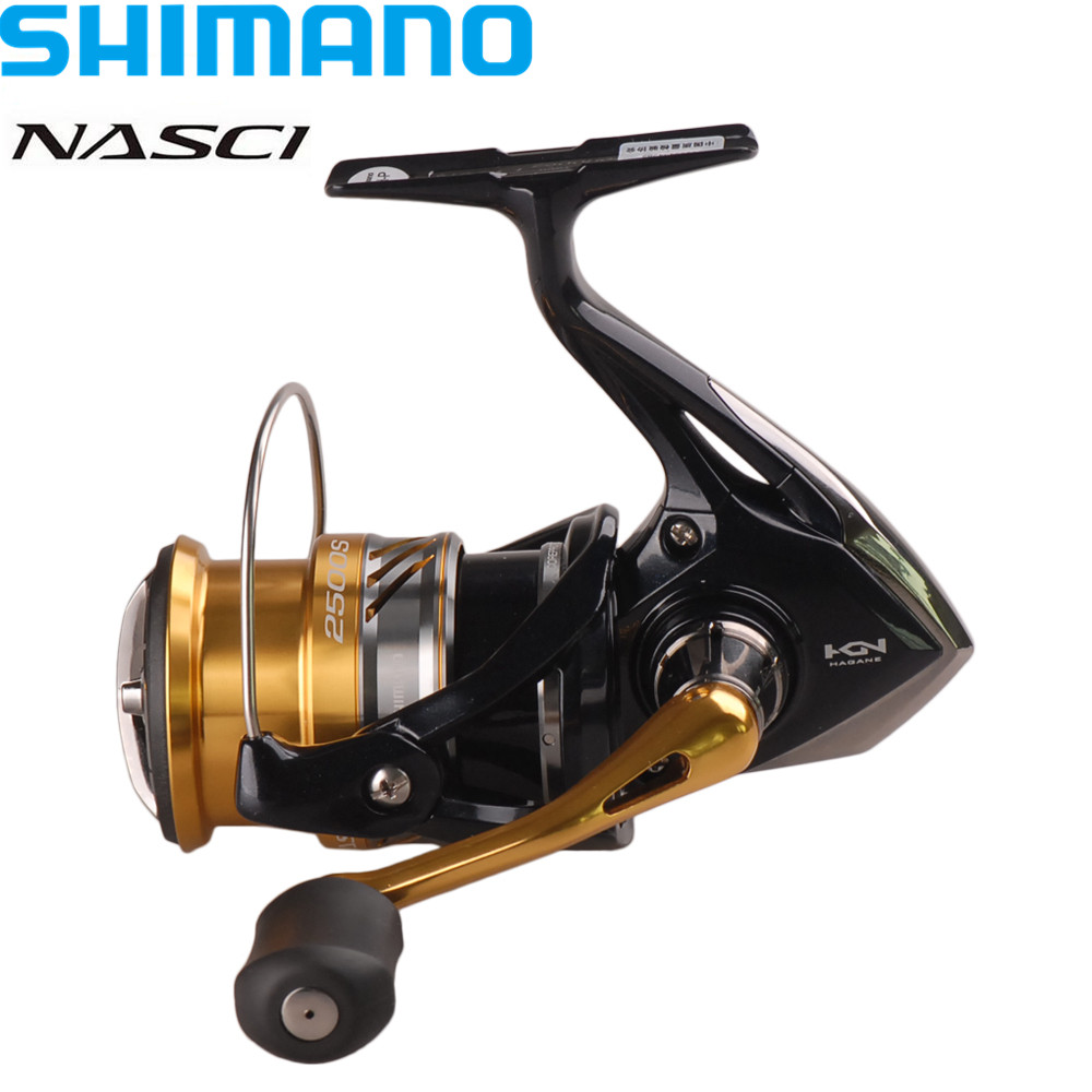 Reel Shimano NASCI 4+1BB/6.2:1 Deep Line Cup Spinning Fishing Reel Hagane Gear X-Ship Saltwater Fishing Reel Moulinet Peche Coil original shimano bass one xt 150 151 right left baitcasting reel 7 2 1 5bb 5kg svs syetem fishing reel carretilha moulinet peche