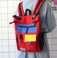 Japanese Men And Women High School Retro Canvas Softback Zipper Backpack Canvas Backpack Travel Teen Backpack For School