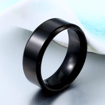 High Polished Titanium Ring