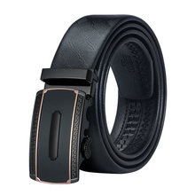 DiBanGu Brand Fashion Automatic Buckle Belts Long Black Waistband Real Genuine Leather Cowskin Belt for Men Wholesale Man Buckle