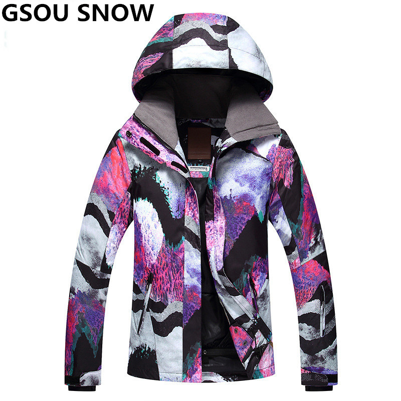 GSOU SNOW Brand Ski Jacket Snowboard Women Winter Jacket Waterproof 10K Outdoor Snow Jacket Girls Skiing And Snowboarding Suits gsou snow brand ski jacket women waterproof snowboard jacket winter outdoor skiing snowboarding snow clothes cheap sports suit