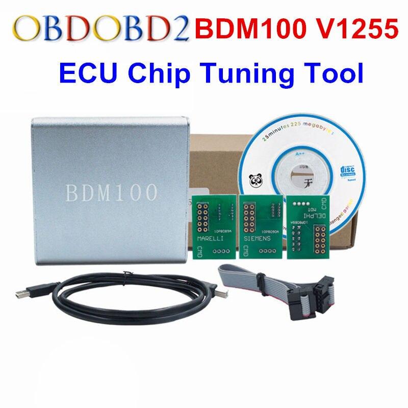 Prix pour A + + + Qualité ECU Flasher BDM 100 ÉCUS Programmeur BDM100 ECU Chip Tuning Outil ÉCUS Lecteur V1255 Livraison Gratuite