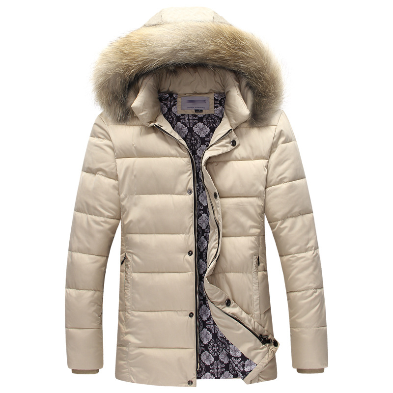 ФОТО 2016 Brand Winter Jacket Men Parka Plus Size Warm Coat Windproof Hooded Down Jackets Men Winter Coats Parkas