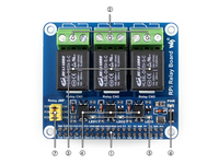 Raspberry Pi Power Relay Board Raspberry Pi Expansion Board Supports Raspberry Pi A B 2B