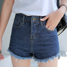 The new 2016 summer women's holes jeans female nail Korean loose large yards of denim shorts women's hot shorts 9920